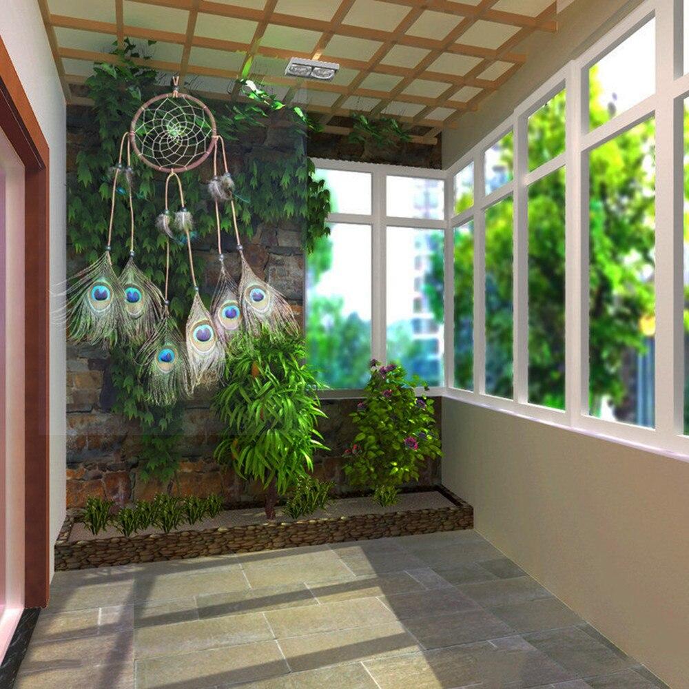 Natürliche Pfauenfedern Traumfänger Anhänger Fenster Wand dekor ...