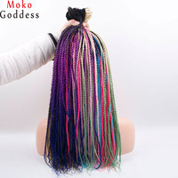 Mokogoddes Ombre Blonde Kanekalon Hair 24 Inch 30 Stands/pack Crochet Braids Senegalese Twist Braid Hair Extension