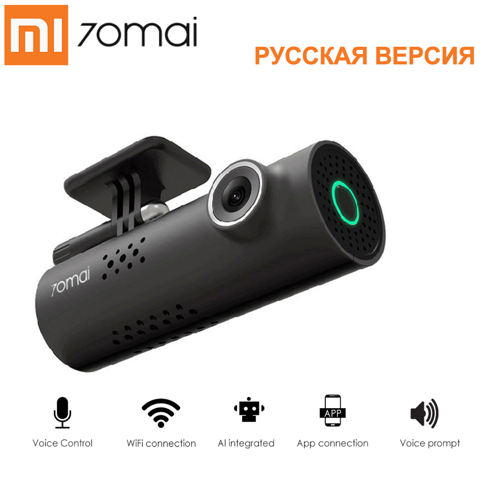 Xiaomi Car DVR Voice-Control-Video-Driving-Recorder Dash-Cam Smart-Wifi G-Sensor Russian-Version