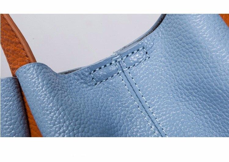 Moda de couro genuíno bolsa feminina bolsa
