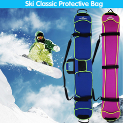 Men Women Portable Ski Snowboard Bag Waterproof Neoprene Skiing Board Bag Scratch-Resistan Monoboard Plate Protective Case