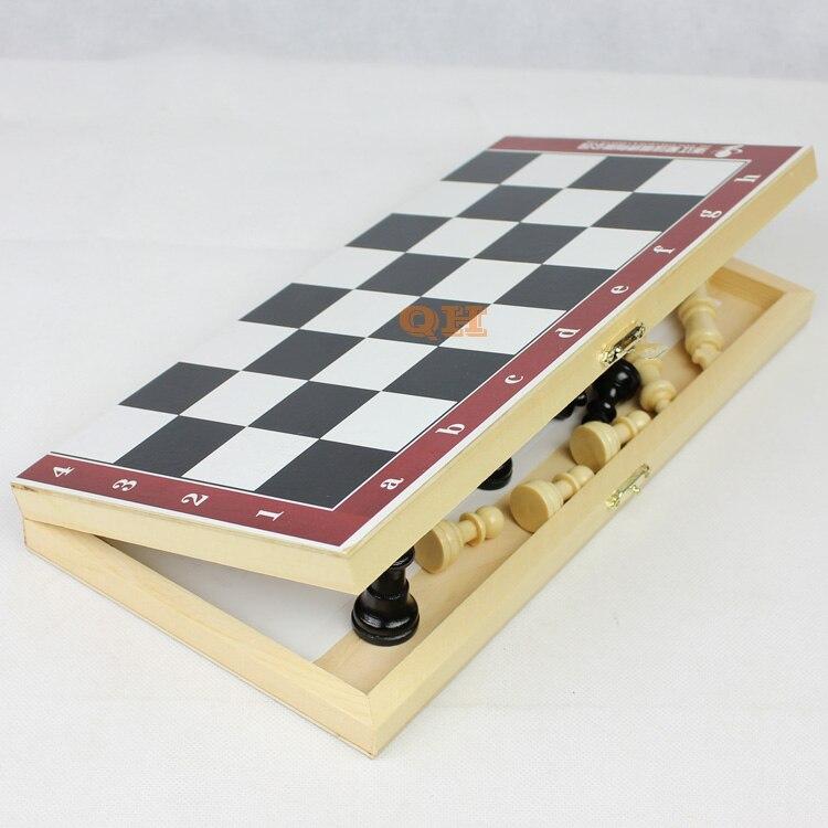 Φυσικό ξύλινο σκάκι μικρό / μεσαίο / - Ψυχαγωγία - Φωτογραφία 6