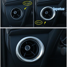 Lapetus Dashboard Air Conditioning AC Outlet Vent Decoration Frame Cover Trim Stainless Steel Fit For Toyota Corolla 2017 2018 стоимость
