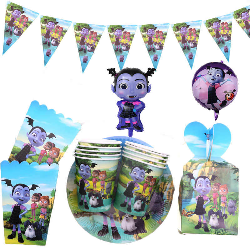 Vampirina Girl Theme Party Supplies Napkins Plates Cups Wedding Decoration Baby Shower Birthday Party Tableware Set for Girls