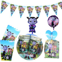 Vampirina menina tema festa suprimentos guardanapos placas copos decoração do casamento chá de bebê festa de aniversário conjunto de utensílios de mesa para meninas