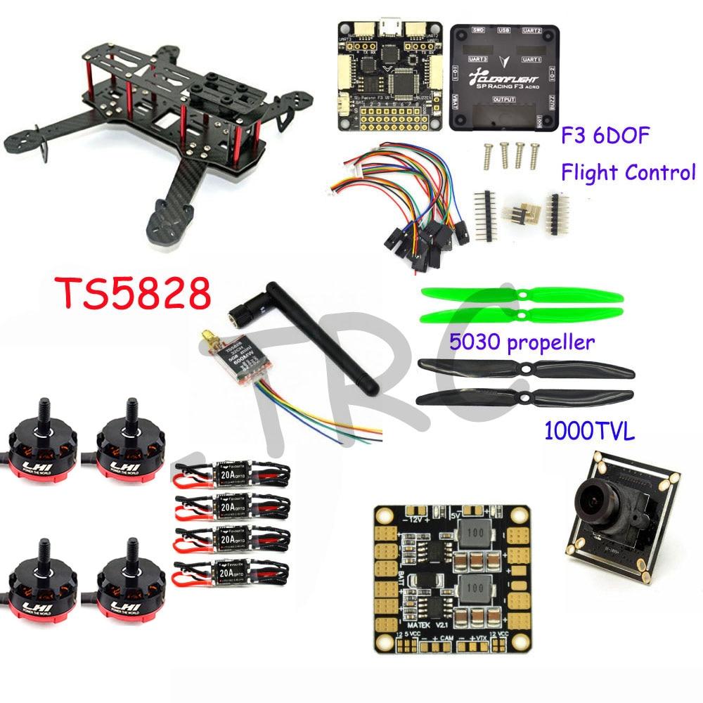 RC plane 250 m Carbon Fiber Mini Quadcopter Frame F3 Flight Controller LHI RS2205 2300KV Brushless Motor 4x 2300kv rs2205 racing edition motor 4x lhi lite 20a blheli s speed controller bb1 2 4s brushless esc for fpv racer