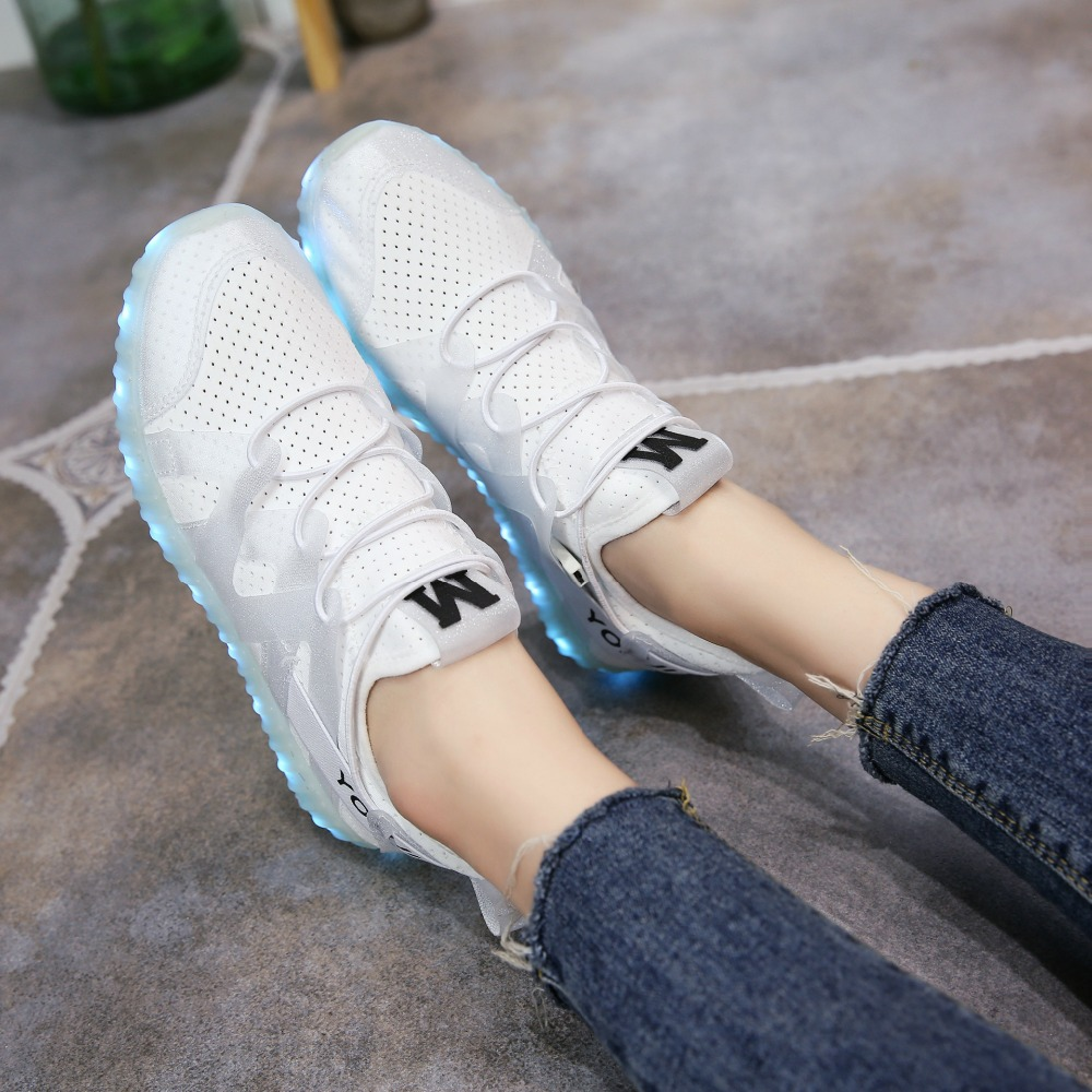 Yeafey Glowing Shoes Women Krasovki Led Luminous Shoes White Sneakers Women  Girls Shoes with Slippers Lights Basket Led Sneakers-in Sneakers from  Mother ...