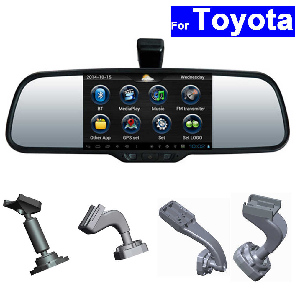 HD <font><b>Car</b></font> Rear View Mirror <font><b>DVR</b></font> GPS Bluetooth WIFI for Toyota Corolla Camry Rav4 Prado Vios <font><b>Lexus</b></font> Highlander Android Auto Monitor image