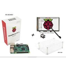 Raspberry Pi 3 Model B Board+ 3.5 TFT HDMI LCD Touch Screen Display + Clear Case Kit