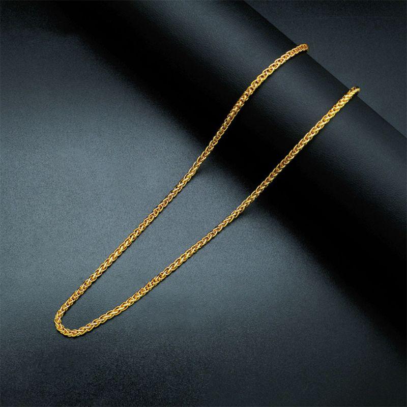 14k solide corde chaîne Collier