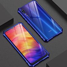 For Xiaomi Redmi Note 7 Case Note7 Bumper Metal Aluminum Frame Back Cover for metal bumper phone case