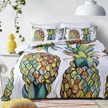 WINLIFE Geometric Duvet Cover Set Pineapple Bedding Cactus Bed No Comforter