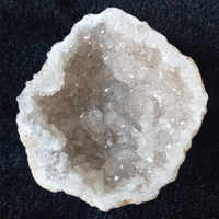Natural agate geode crystal hole Mineral specimen contains clean crystal clusters of very beautiful small stones and crystals