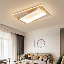 Modern led chandelier ceiling for Living room dining room bedroom rectangle wood chandelier Fixture 2019 new modern chandelier led lighting remote ceiling chandelier lamp fixture for dining living room bedroom kitchen office hallway