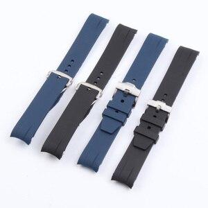 Image 4 - Bracelet de montre en Silicone 21MM, pour Hydro conquête L3 41mm 43mm, cadran pour Explorer2, Bracelet en caoutchouc