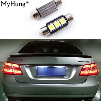 2pcs Car Styling Canbus LED Parking License Plate Lights 36MM C5W For Mercedes Benz W208 W209 W203 W169 W210 W211 W212 AMG CLK image