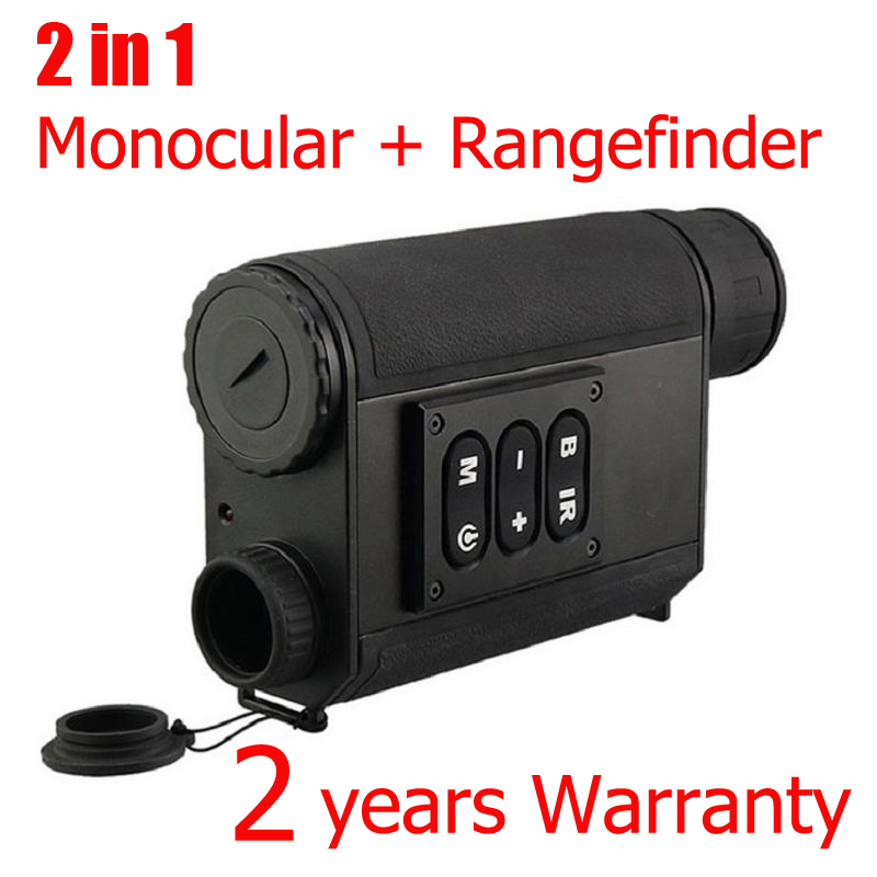 WG630 500M Range Laser Rangefinder Night Vision Optical Monocular 6X32 Zoom NV Monocular for Night Hunting