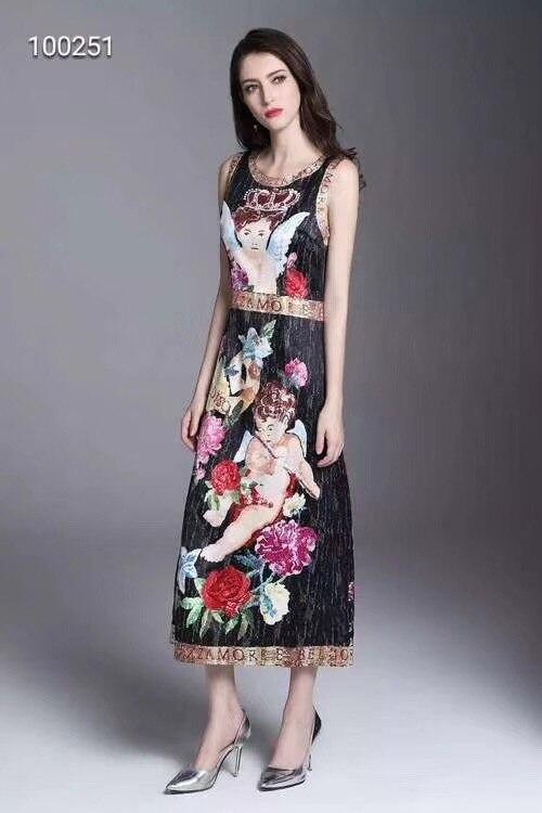 WLD08261 Высокое качество нового Мода Для женщин 2018 осеннее платье Элитный бренд Европейский Дизайн Винтаж стильное платье