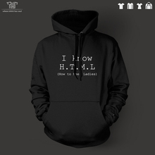 Free Shipping I know HTML funny geek design men pullover hoodie heavy hooded sweatershirt organic cotton fleece inside