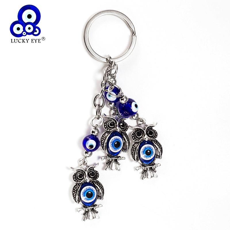 Lucky Eye Animal Plant Keychain Glass Pendent Key Chain Alloy Tassel Car Key Chain For Men Women Kid Jewelry Gifts EY5330