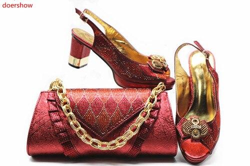 Italiennes argent Doershow Et Ensembles Bleu Femmes vert Htb1 Sac Africaines or Ensemble Correspondance Italie Chaussures Avec Sacs De 17 Soirée Pour Vert Couleur rouge Femmes SrqwPr5z
