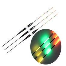 3 шт./лот Led Электронный поплавок пробкового дерева ночного видения Электрический поплавок рыболовные снасти светящиеся поплавок без батареи