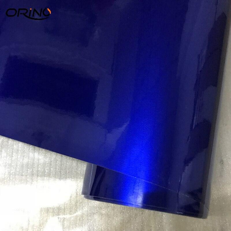Blue Glossy Metallic Glitter Vinyl Car Sticker Vehicle Motorbike Car Wraps Glossy Candy Metallic Vinyl Film Air Bubble Free