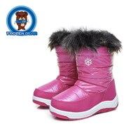 Maluch Futro Dziewcząt Chłopców Połowy łydki Botki Wodoodporne Śnieg Miękki Ciepły buty Dla Dzieci Różowy Biały Baby Shoes Trochę Niemowląt Boot KT906-1 B
