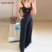 Women Cut Out Twist Front Wide Leg Jumpsuit Strapless Sleeveless Square Neck Slim Fit Streetwear Summer Bodycon Jumpsuits
