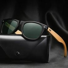 Klassische Bambus Holz Sonnenbrille Marke Design Männer Frauen Beschichtung Spiegel Sonnenbrille Mode Sonnenbrille Retro Brille UV400 Shades