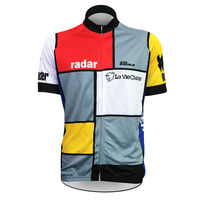 Alien Sports Wear Radar Pattern Cycling Jersey Men Short Sleeve Multicolor Full Zipper Bicycle Clothing Size XS 5XL