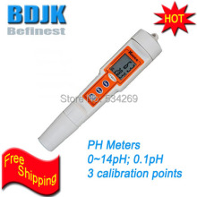 0~14PH Pocket Digital Pen pH Meters Temperature Dual Display Hand held PH Tester Waterproof