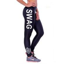 Hot sale Compression Women running pants Letter cotton woman sport leggings fitness training pantalon Gym joggers trousers xy20