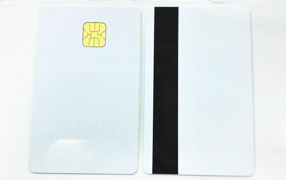 (10 teile/los) SLE 4428 Hico Kontaktieren Smart Karte Magnetische Streifen Chip Karten