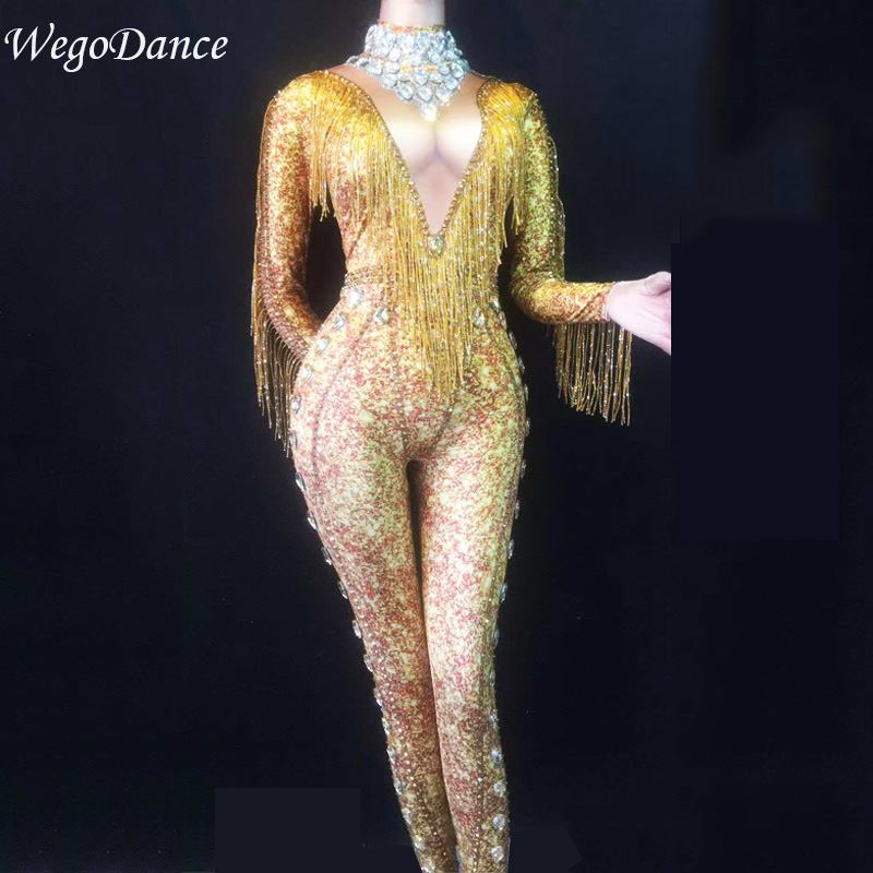 Célébrer Photo Femmes De Chanteur Danseur Sexy D'anniversaire Body Nouveau Stade Glisten As Salopette Costumes Gland Danse Costume qpdRP