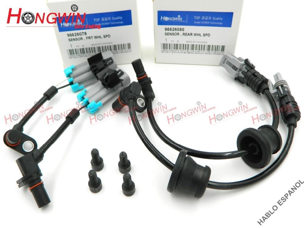 4 piezas un conjunto ABS rueda Sensor de velocidad para Pontiac Chevrolet Equinox Captiva Saturn Opel 2007-2013 96626078, 96626080