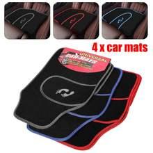 4 шт., универсальные автомобильные коврики, ковер, нескользящая ручка, узор для ног, коврик для любой погоды