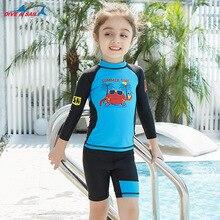 New 2pcs Boys girls Swimsuit UV Protection Shorts For Kids Cartoon Trunks Baby Swimwear Children Diving Suit surfing Beach Wear