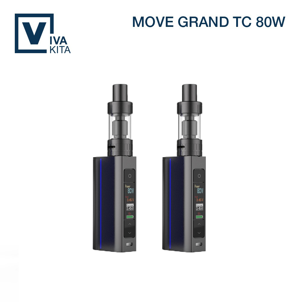 Vivakita 80W OLED Screen Box Mod pro Tank Black Blue White Mod Big Color Screen Big