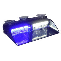 CYAN SOIL BAY Blue White 16 LED 16W Emergency Car Truck Dashboard Dash Flashing Strobe Light