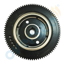 OVERSEE 66T-85550-10 Outboard Flywheel E40X 40XMH Rator Replaces For 40HP 2stroke Electric For Fits Yamaha Parsun Outboard