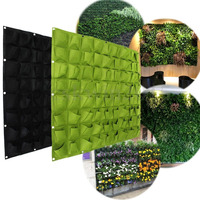 U.TECH 72 Pocket Hanging Garden Vertical Greening Outdoor Indoor Plant Planting Bag Free Shipping