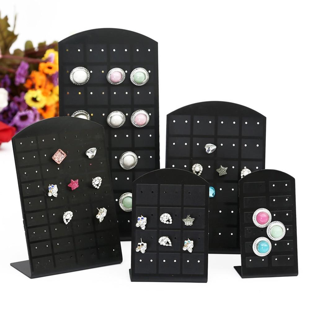 New 3 Size Fashion Earrings Ear Studs Jewelry Show Plastic Jewelry Display Rack Metal Stand Organizer