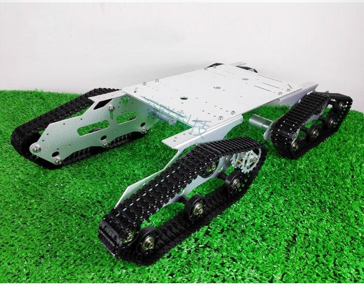 TR900 Tank 4WD châssis en métal chenille voiture intelligente wall-e Robot Base course d'obstacles