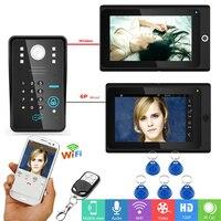YobangSecurity Wifi Wireless Video Door Phone Doorbell Camera Intercom RFID Password With 2X 7Inch Monitor 1