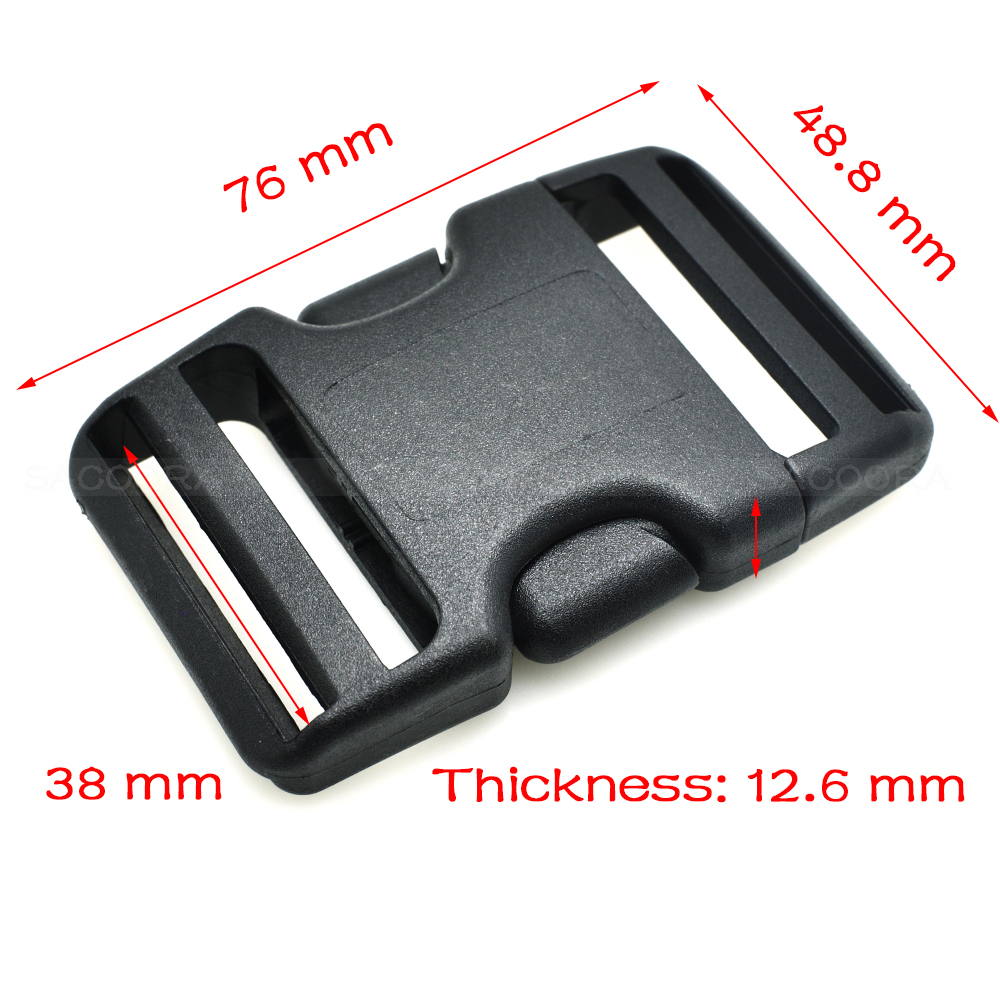 500pcspack  Pack 1-12 Webbing Arched Inserting Buckle Plastic for Travel Tactical Backpack