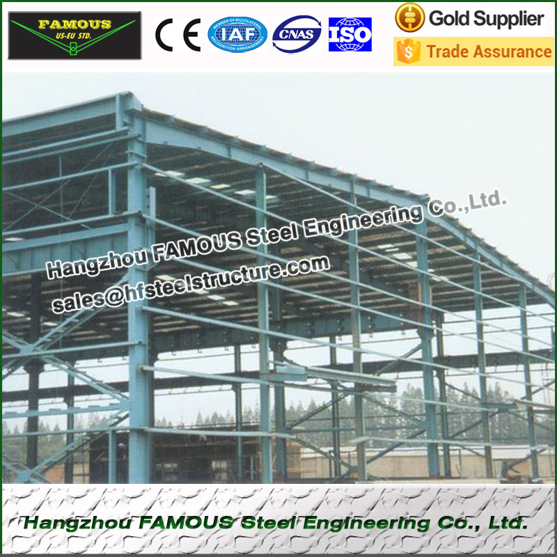High Rise Wide Span Prefab Steel Building With Economic Scheme