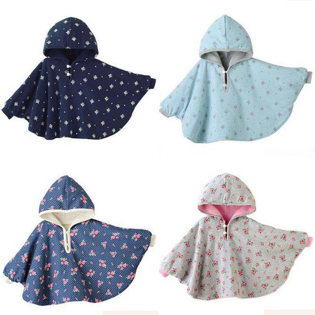 Winter Baby Clothes Hoodies Coat Combi Reversible Mantles Boys Girls Blouses Outerwear 4 Styles