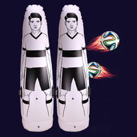 1.75m Adult Children Inflatable Football Training Goal Keeper Tumbler Air Soccer Train Dummy WHShopping