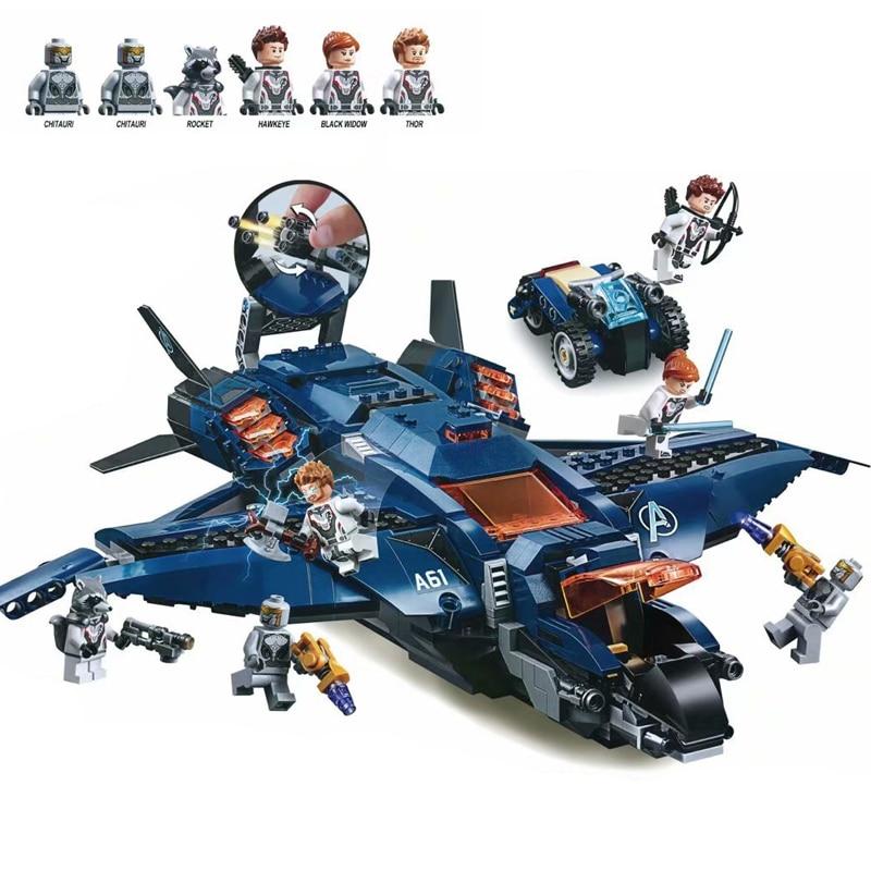Superheros Avengers 4 jeux de blocs de construction LegoED Marvel compatibles Legoinglys Avengers 76131 76126 avec chiffres jouet